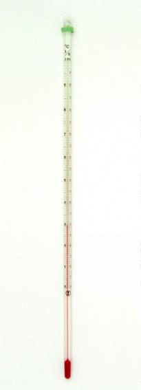 アルコール精密棒状温度計 -20...
